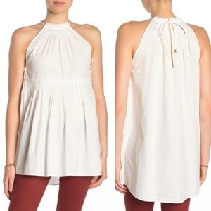 Free People White Moonbeams Tunic